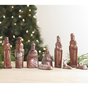 Rose Soapstone Nativity