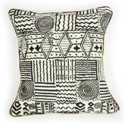 African Motif Swirl Pillow