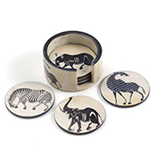 Tinga-Tinga Set of 6 Soapstone Coasters