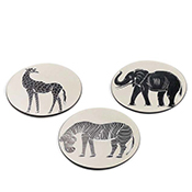 Set of 3 Tinga Tinga Trivets