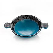 Medium Blue Tab Soapstone Bowl