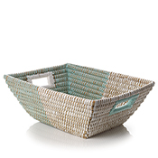 Mint & Natural Handled Basket