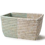 Mint & Natural Basket - Rectangular