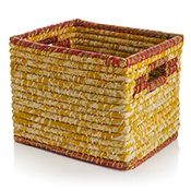 Mustard Chindi Wrap Basket