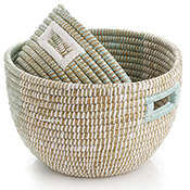 Mint & Natural Nesting Baskets