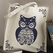 Owl Canvas Tote