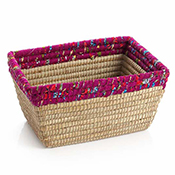 Berry Chindi Rim Rectangle Basket