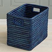 Indigo Rectangle Basket