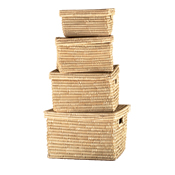 Nesting Kaisa Grass Set of 4 Baskets