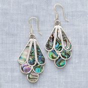 Abalone Art Earrings