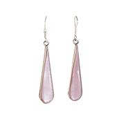Long Lilac Drop Earrings