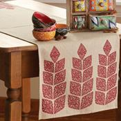 Crimson Leaf Table Runner