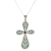Royal Turquoise Cross Necklace
