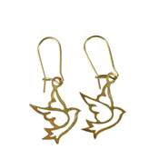 Brass Dove Earrings