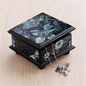 Floral Hummingbird Box