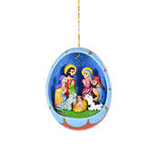 Ceramic Egg Nativity Ornament