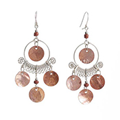 Coppery Chandelier Earrings