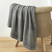 black diamond alpaca throw
