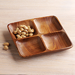 Acacia 4-Square Appetizer Tray