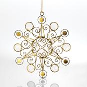 Circles Snowflake Capiz Ornament