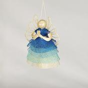 Blue Ombre Angels Ornament