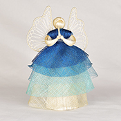 Blue Ombre Angels Tree Topper