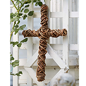Vine-Wrapped Cross