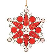 Ruby Snowflake Ornament