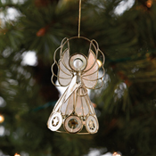 Capiz Angel Ornament