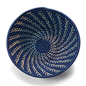 navy fern spiral basket