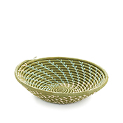 Green Fern Spiral Splendor Basket