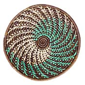 Brown Fern Spiral Splendor Basket