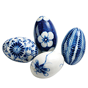 Bat Trang Ceramic Egg Set