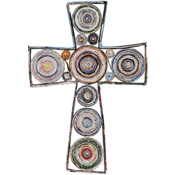 Recycled Paper Wall Cross