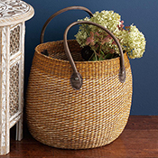 Sea Waves Basket Tote