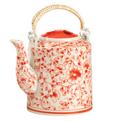 Red Blossom Teapot