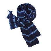 Indigo Striped Scarf