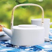 White Modern Teapot