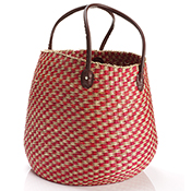 Cherry Checkered Basket