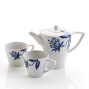 Modern Blue Flower Tea Set