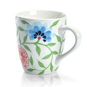 Bat Trang Flower Mug