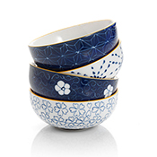 Ornate Blue Dipping Bowls