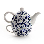 Blue and White Tea for One