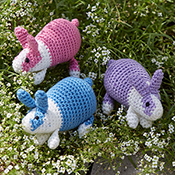 Crocheted Colorful Bunnies