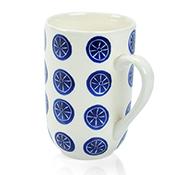 Blue Bat Trang Medallion Mugs