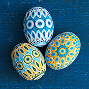 Quilled Blue/Gold Eggs