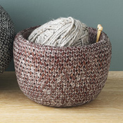 Burgundy Double-Weave Bamboo Bowl