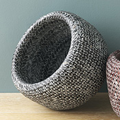 Charcoal Double-Weave Bamboo Bowl