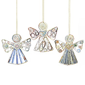 Recycled Paper Angel Set