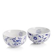 Blue Flower Small Bowl Set
